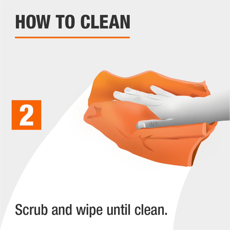 Scrub and wipe the cushion until clean.