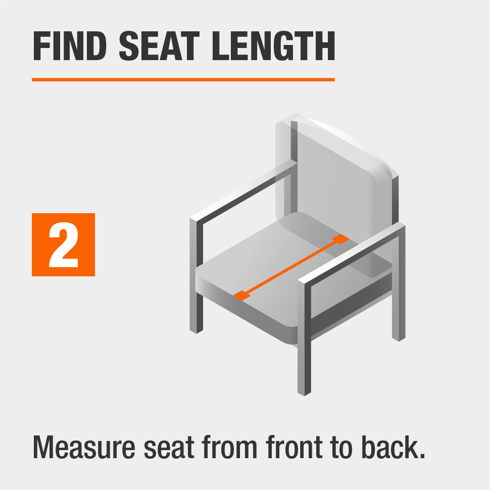 STEP 2: Find the seat length by measuring from front to back