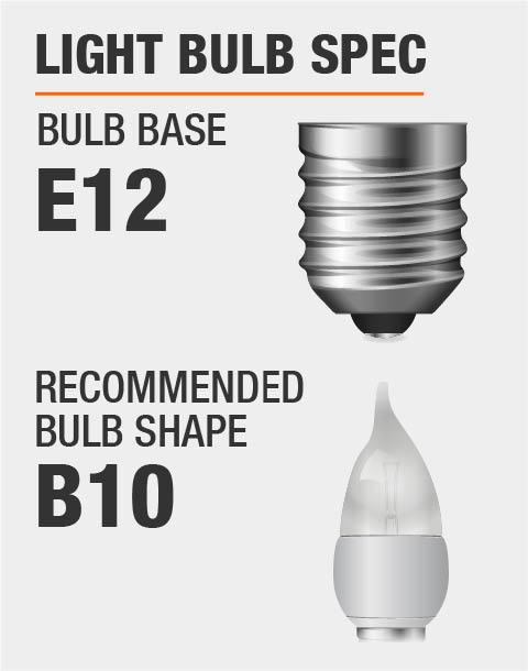 E12 Base B10 Bulb Recommended