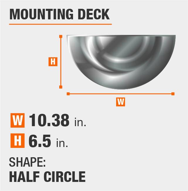 Half Circle Mounting Deck