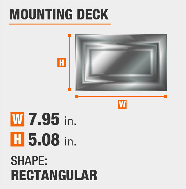 Rectangular Mounting Deck