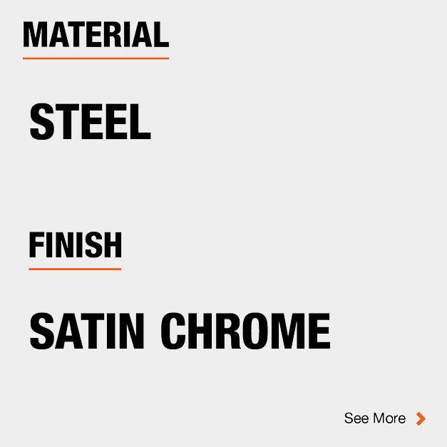 Door Hinge Steel Material and Satin Chrome finish