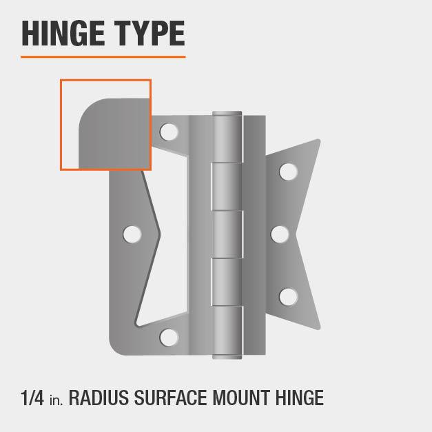 1/4 inch Radius Surface Mount Hinge Type