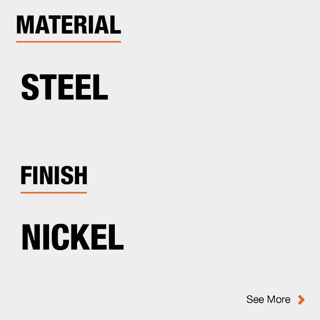 Door Hinge Steel Material and Nickel finish