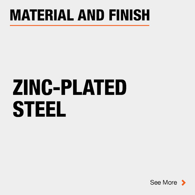 Door Hinge Zinc-Plated Steel Material and Finish