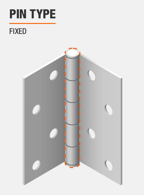 Door Hinge Fixed Pin Type