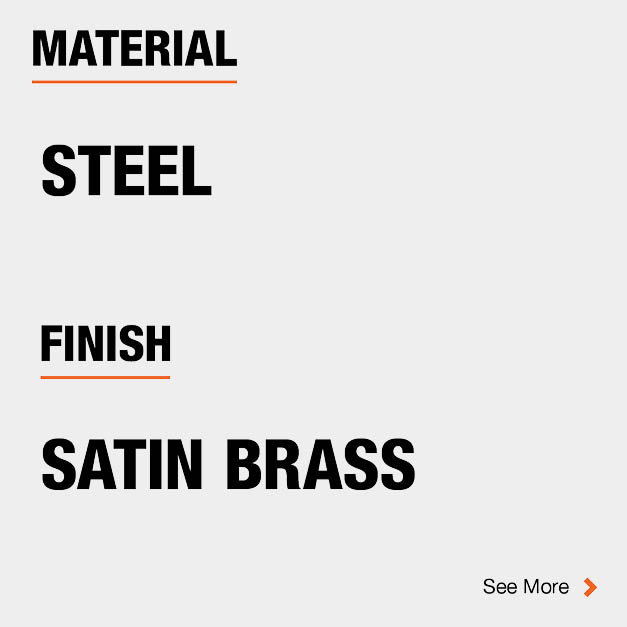 Door Hinge Steel Material and Satin Brass finish