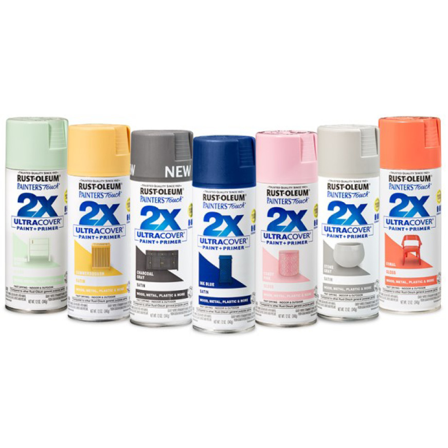 Largest spray paint color selection within the Rust-Oleum family