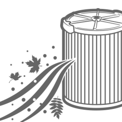 Extend the life of your filter by preventing dirt and debris from entering it.