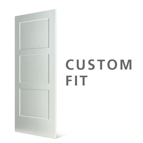 Slab 3-panel door