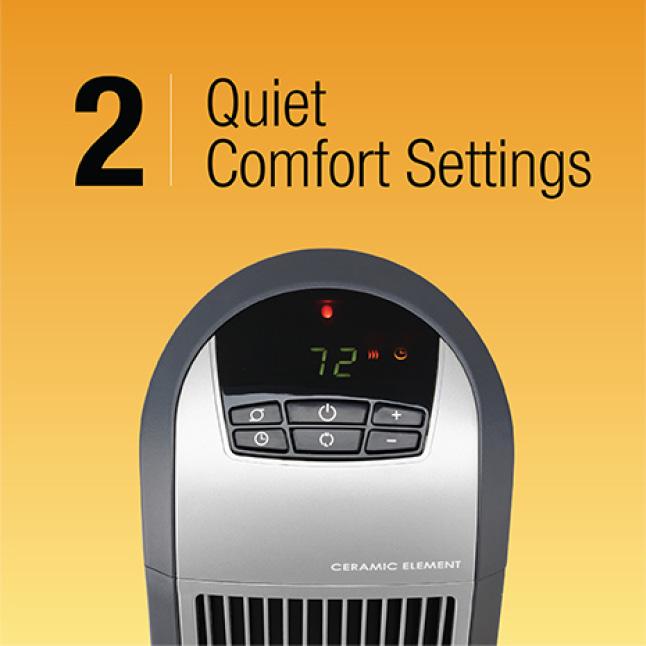 2 Quiet Comfort Settings Plus Auto
