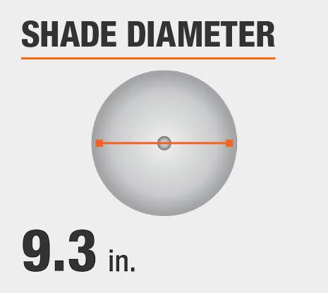 Shade Diameter: 9.30 in.