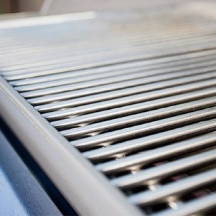 Clean grill grates with Mr. Clean magic erasers
