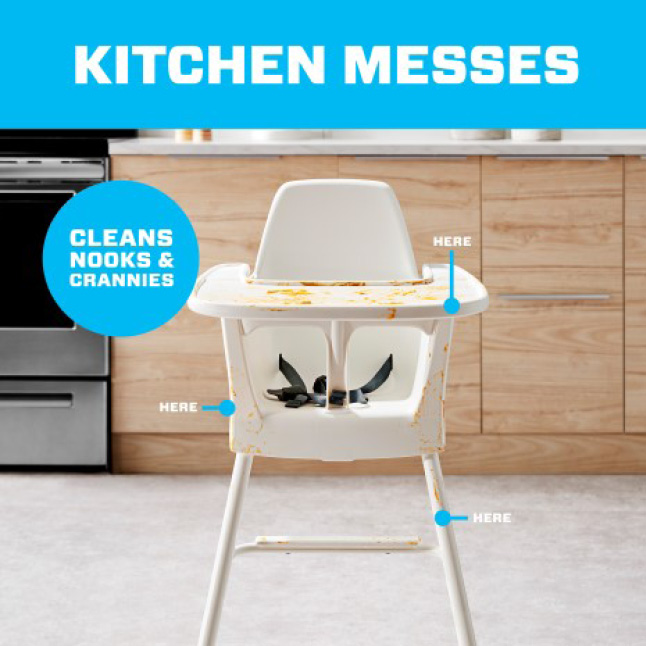 Mr. Clean magic erasers cleans nooks and crannies and kitchen messes