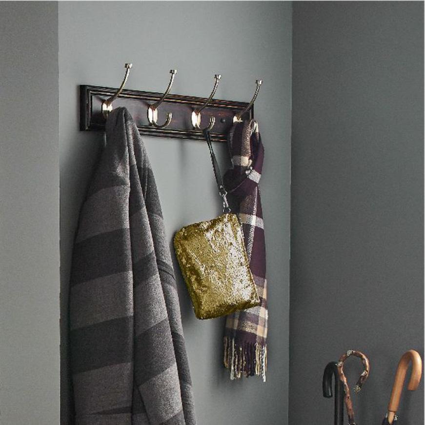 Hook Rack, Coat, Scarf, and Purse Organization