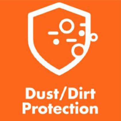 Protects against dust and dirt