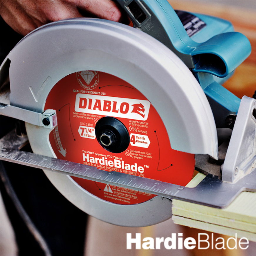 This is a lifestyle image of the Hardie Blade