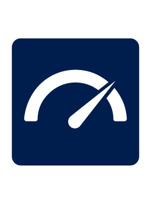 Infographic of speedometer