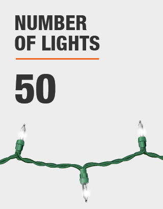 The number of lights is 50