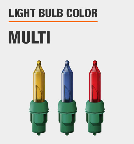Light bulb color is multi