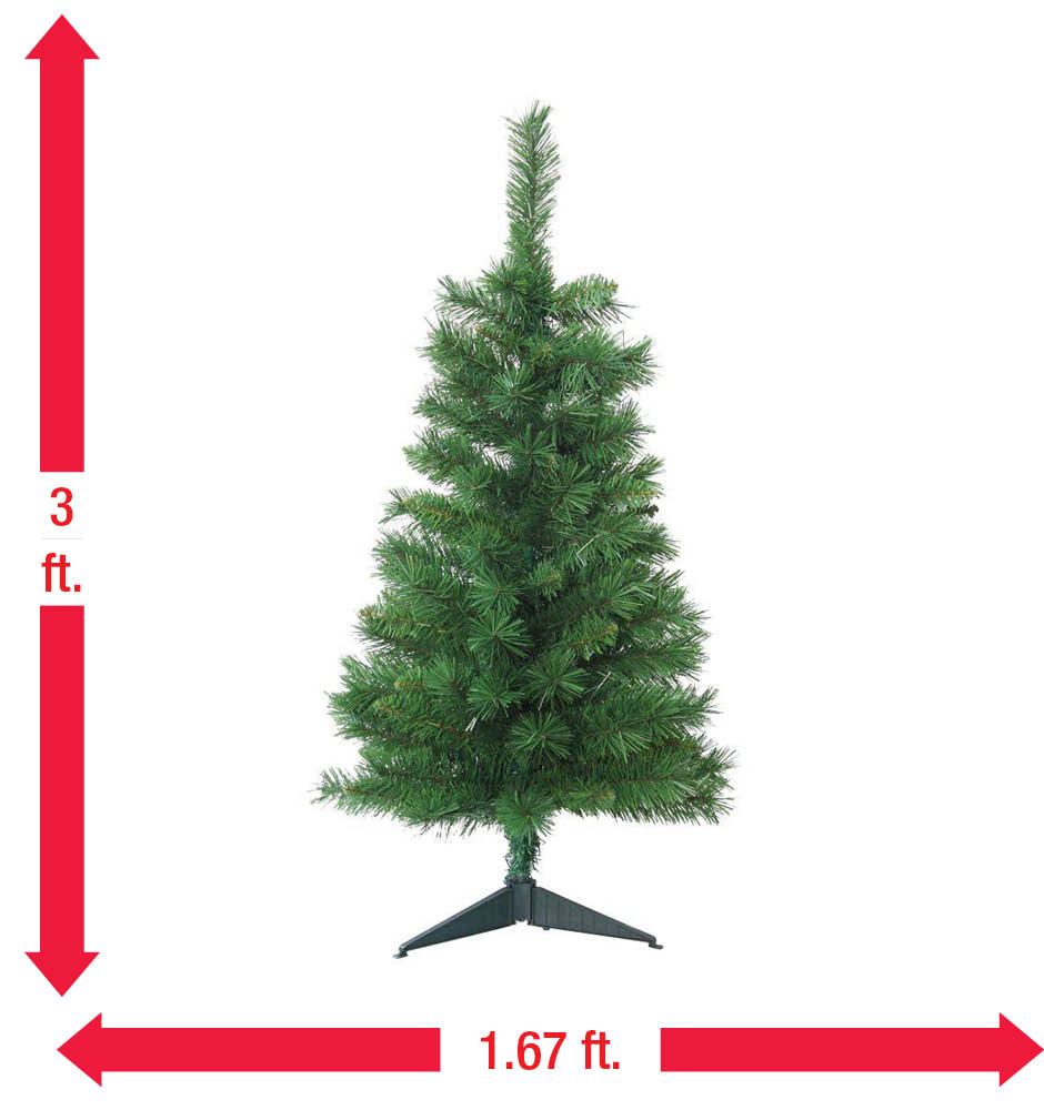 Home Accents Holiday 3 ft. Unlit Tacoma Pine Artificial Christmas ...