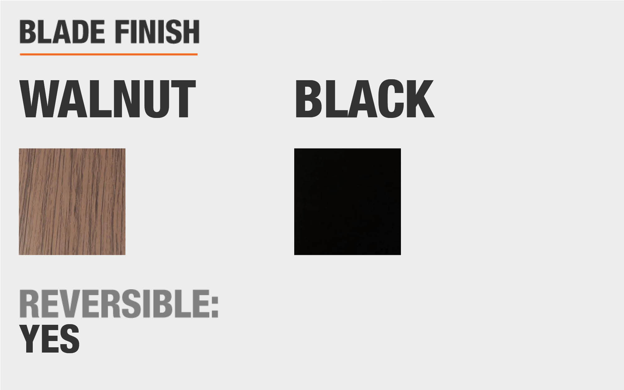 Blade finish