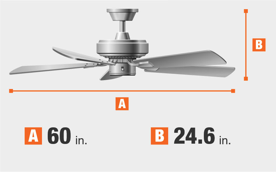 Ceiling Fan Dimensions Blade Span And Height