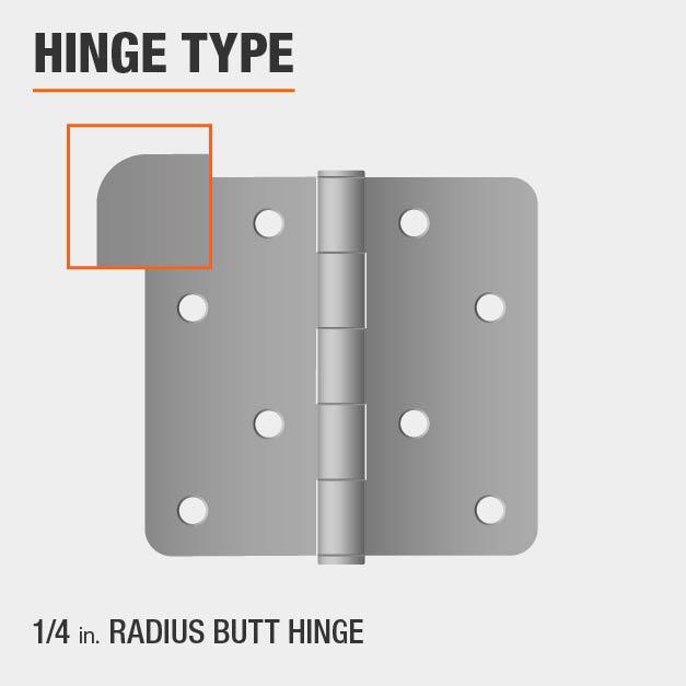1/4 inch Radius Butt Hinge Type