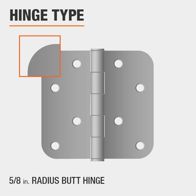 5/8 inch Radius Butt Hinge Type