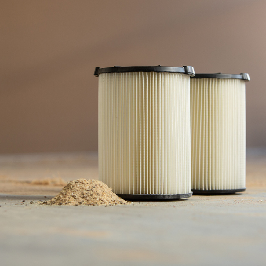 1-Layer filtration for general dirt and dust found in the home, garage, or shop.