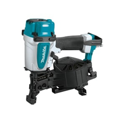 AN454 Makita roofing coil nailer for use with quiet, portable air compressor