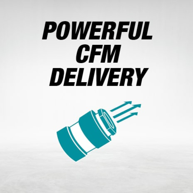 small, silent air compressor with powerful CFM delivery