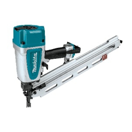 AN924 round head framing nailer for use with Makita high cfm, horizontal compressor