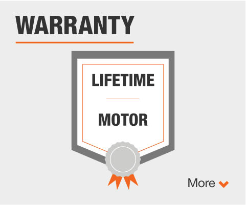 Lifetime motor warranty