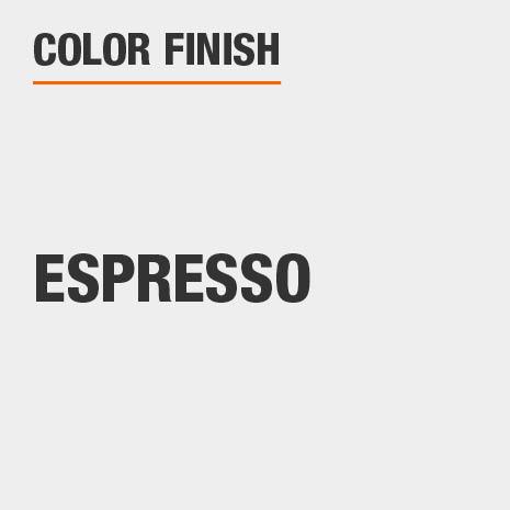 This bathroom vanity mirror color finish is Espresso