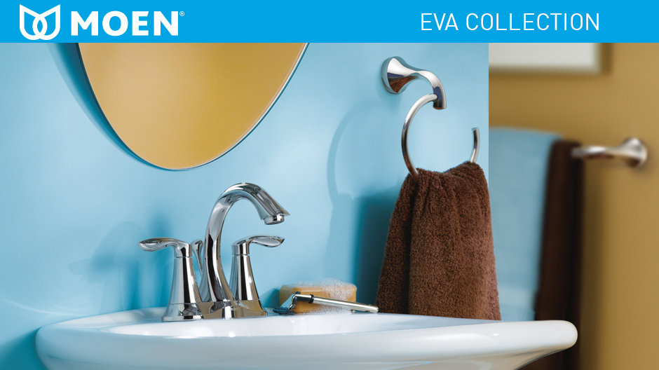 Shop Classic High Spout Oil Rubbed Bronze Bathroom Faucet: MOEN Eva 4 In. Centerset 2-Handle High-Arc Bathroom Faucet