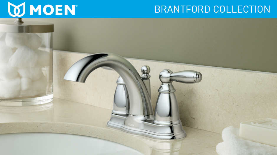 Moen Brantford 4 In Centerset 2 Handle Low Arc Bathroom