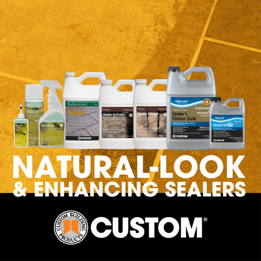 tile and stone sealers product line