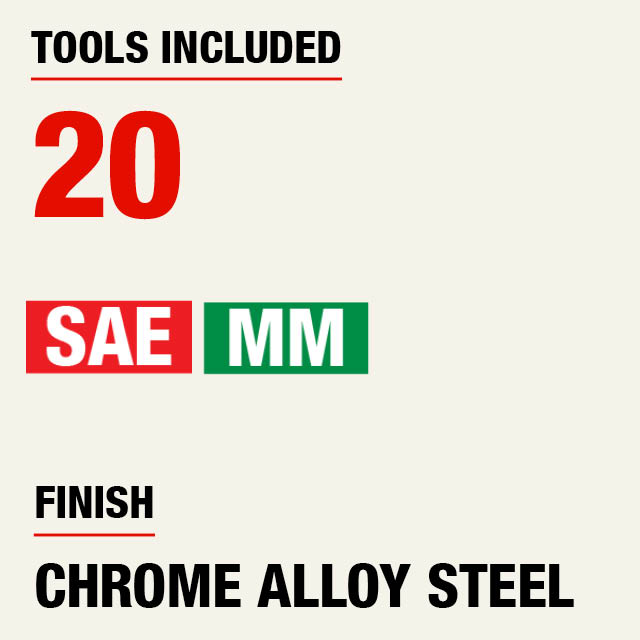 Tools Included: 20
