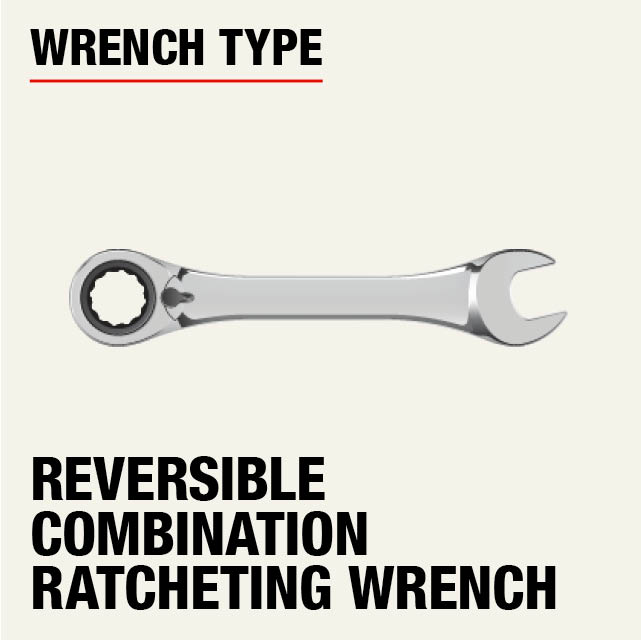 SAE Ratcheting Reversible Combination Wrench Set
