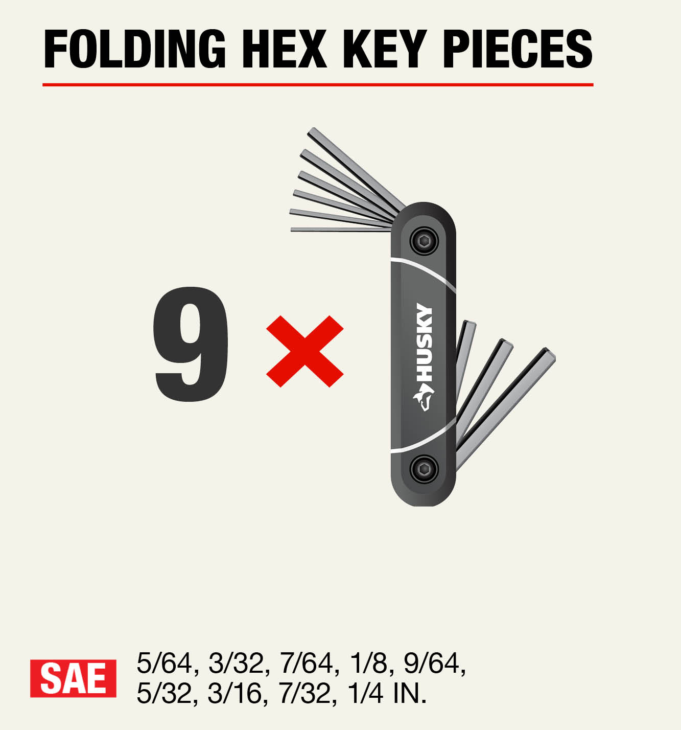 Husky Folding Hex Keys