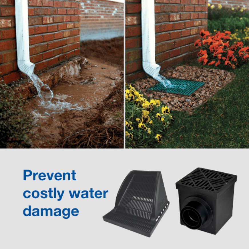 Drainage for Downspouts Problem and Solution