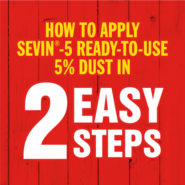 Sevin-5 Ready-To-Use 5% Dust how to apply