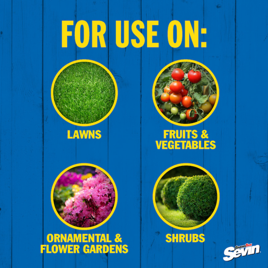 Sevin-5 Ready-To-Use 5% Dust use for flowers, vegetables, fruits, and lawns