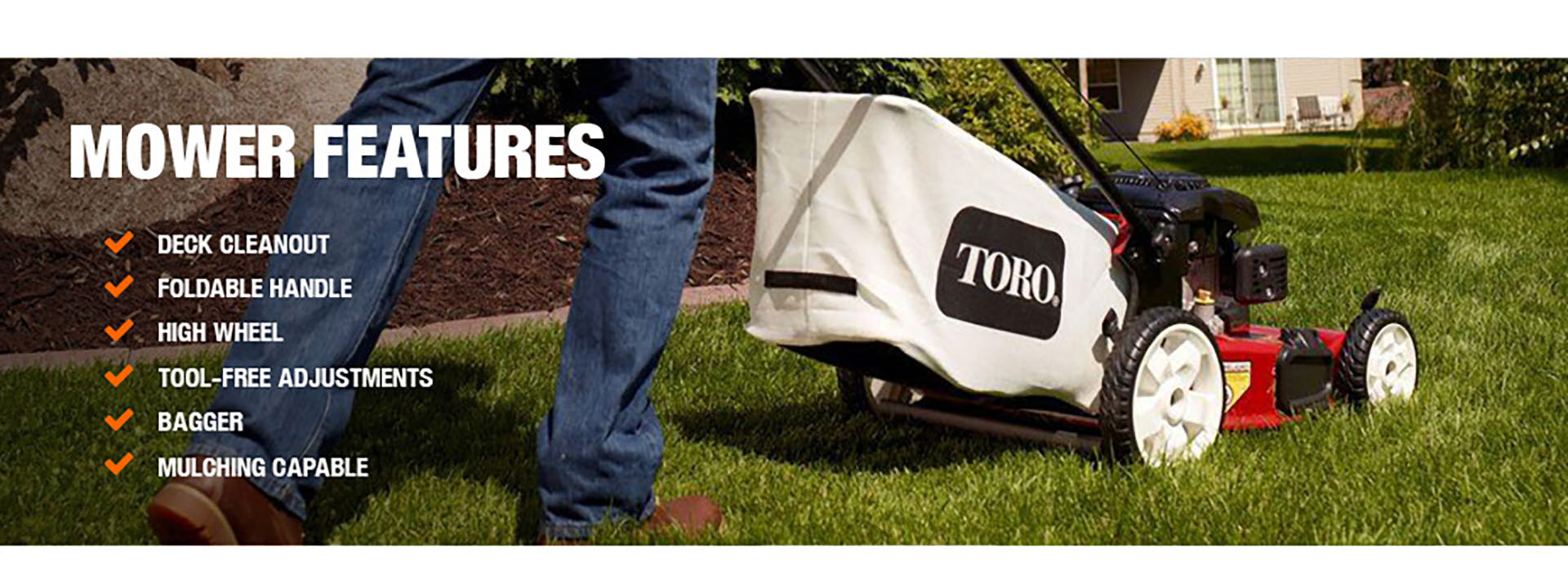 Toro 22 In Kohler High Wheel Variable Speed Gas Walk Behind Self Engine Assembly Diagram And Parts List For Lawnboy Walkbehindlawn Product Overview Mower Features