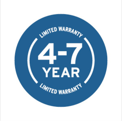 Four to Seven Year Warranty Icon