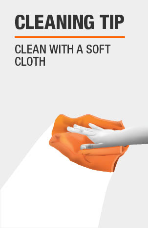 Clean with a Soft Cloth