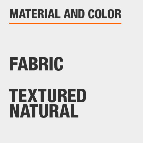 Textured Natural Fabric Storage Ottoman