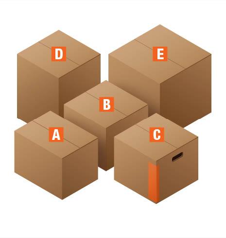 Moving box kits boxes