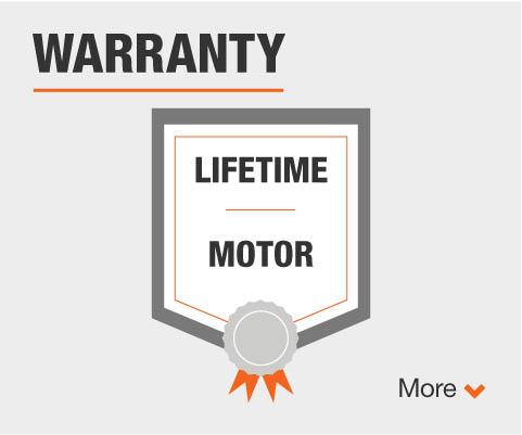 Lifetime motor warranty